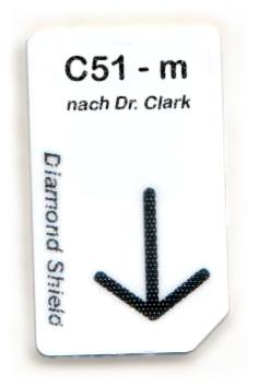 C51 - m Chipcard nach Dr. Clark für Diamond Shield Zapper
