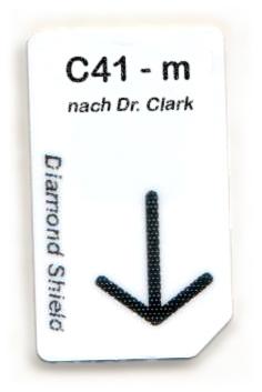 C41 - m Chipcard nach Dr. Clark für Diamond Shield Zapper