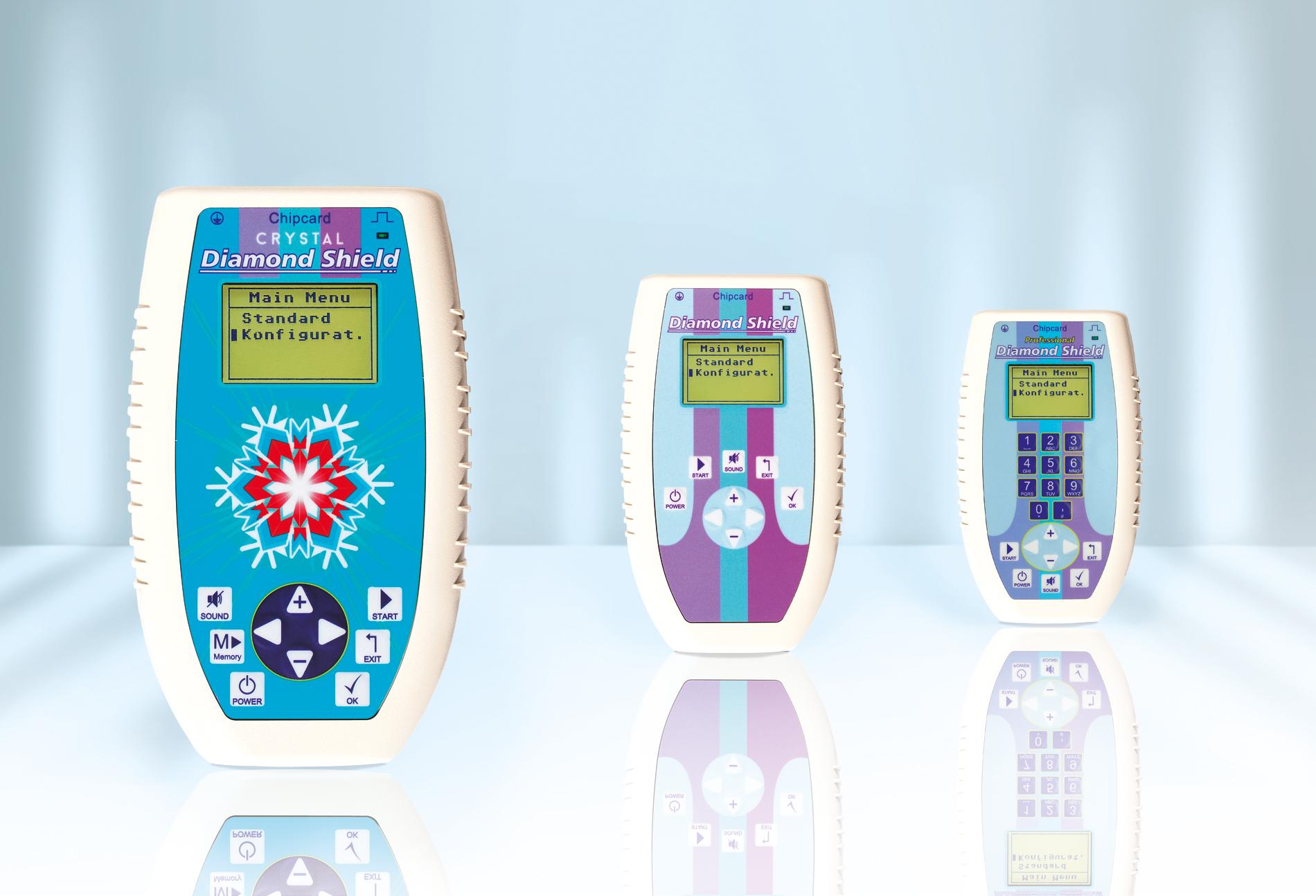 Die drei Diamond Shield Zapper Modelle