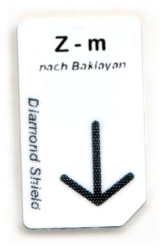 Z - m Chipcard nach Baklayan für Diamond Shield Zapper