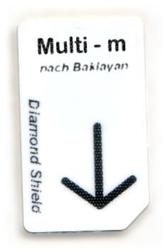 Multi - m Chipcard nach Baklayan für Diamond Shield Zapper
