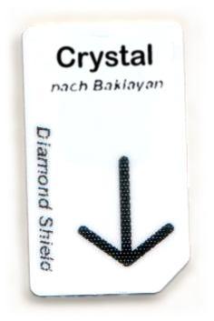 Crystal Chipcard nach Baklayan für Diamond Shield Zapper