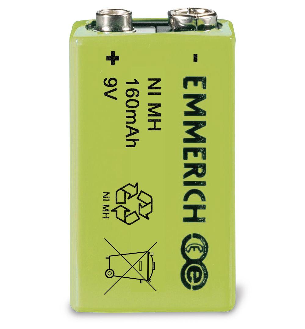 9 Volt Akku Batterie, wiederaufladbar