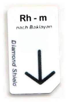 Rh - m Chipcard nach Baklayan für Diamond Shield Zapper