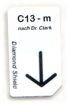 C13 - m Chipcard nach Dr. Clark für Diamond Shield Zapper