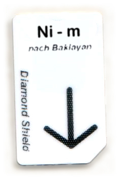 Ni - m Chipcard nach Baklayan für Diamond Shield Zapper