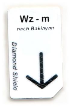 Wz - m Chipcard nach Baklayan für Diamond Shield Zapper