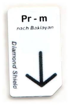 Pr - m Chipcard nach Baklayan für Diamond Shield Zapper