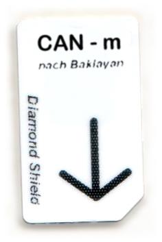 CAN - m Chipcard nach Baklayan für Diamond Shield Zapper