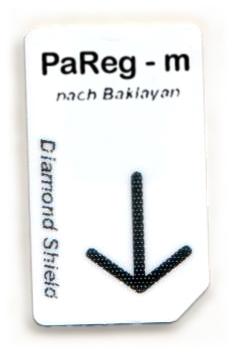 PaReg - m Chipcard nach Baklayan für Diamond Shield Zapper