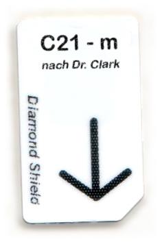 C21 - m Chipcard nach Dr. Clark für Diamond Shield Zapper