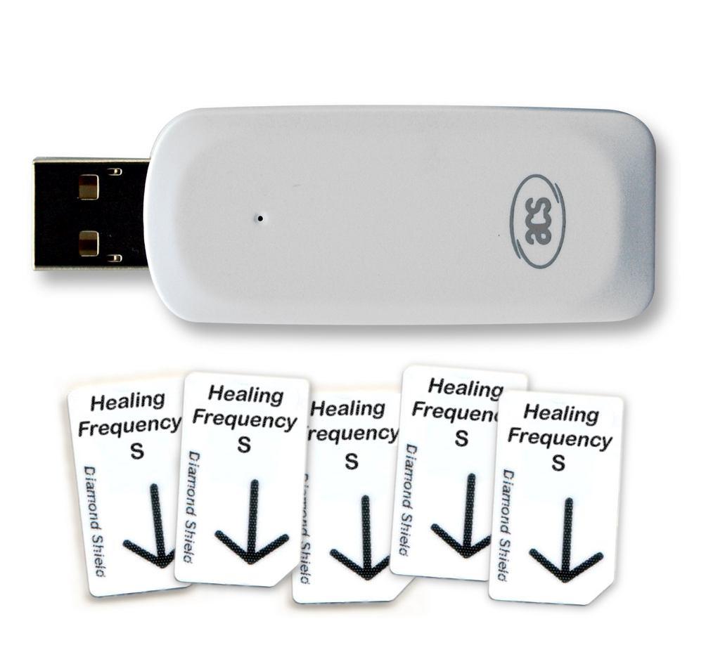 Healing Frequency Starter Set groß, mit 5x Standard Chipkarten und 1x USB- Chipkartenschreiber