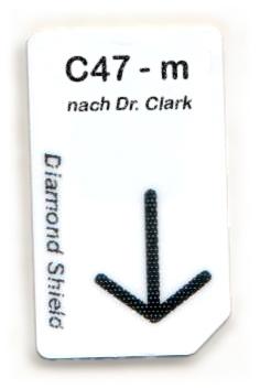 C47- m Chipcard nach Dr. Clark für Diamond Shield Zapper