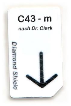 C43 - m Chipcard nach Dr. Clark für Diamond Shield Zapper