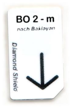 BO 2 - m Chipcard nach Baklayan für Diamond Shield Zapper