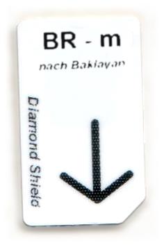 BR - m Chipcard nach Baklayan für Diamond Shield Zapper