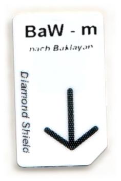 BaW - m Chipcard nach Baklayan für Diamond Shield Zapper